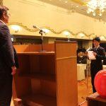 決意表明をするLAの代表者(1月9日)